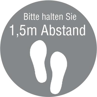 Abstand halten von 1,5m